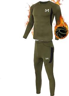ست لباس زیر حرارتی مردان ، لایه پایه اسپورت لانگ جانس برای مردان ، لباس های فشرده سازی دنده زمستانی برای اجرای اسکی
