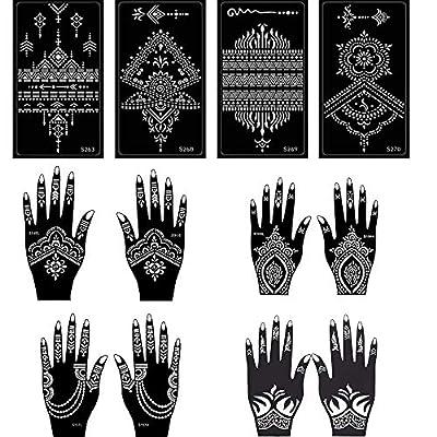 12 Sheets Henna Tattoo