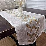 JIJIZFUH Tischflagge Seitenabdeckung für Kleiderschrank Handtuch Fahne Tisch Tischdecke Tee 35 x 220 cm 35 x 170cm Light Curry