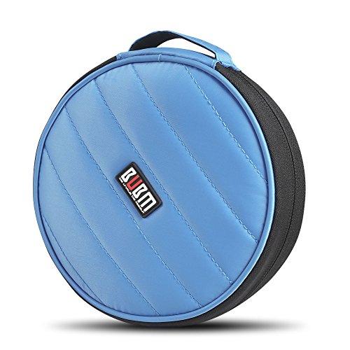 BUBM CD-/DVD-Portemonnaie für Auto, Zuhause, Reise, tragbar, 32 Kapazität, 230D himmelblau