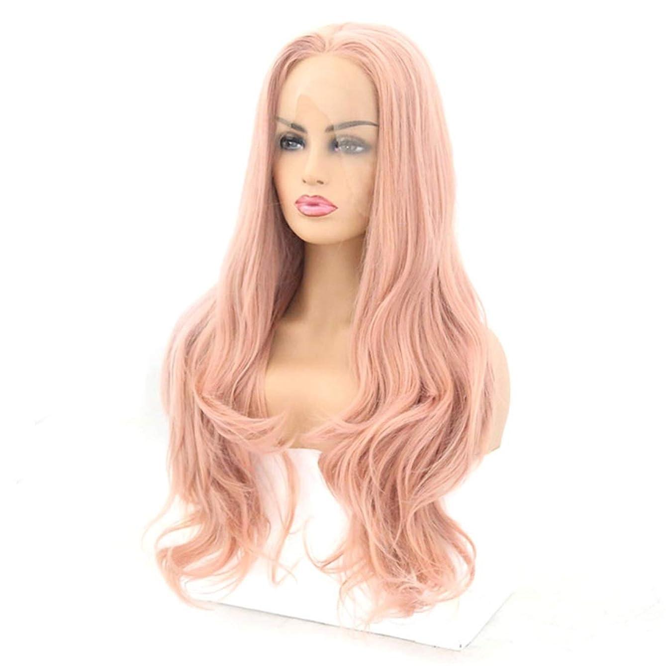 キリスト教許容近似Koloeplf フロントレースかつら長い巻き毛のかつら合成のカラフルなコスプレ日常パーティーかつら本物の髪として自然な女性のためのかつら