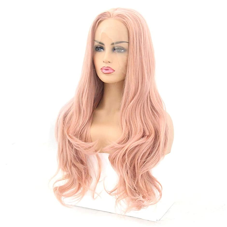 休日に不合格再編成するSummerys フロントレースかつら長い巻き毛のかつら合成のカラフルなコスプレ日常パーティーかつら本物の髪として自然な女性のためのかつら