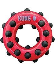 KONG - Dotz Circle - Juguete mordedor para Perros, Ideal para Jugar - Raza Grande