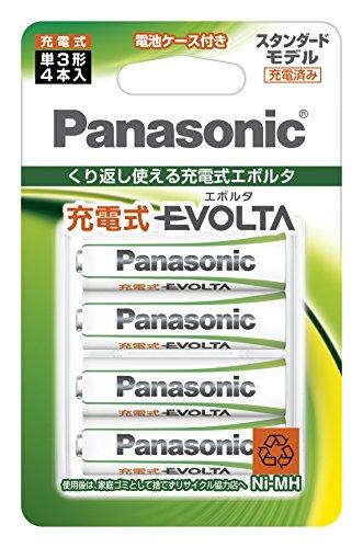 パナソニック 充電式エボルタ 単3形 4本パック(スタンダードモデル BK-3MLE/4BC