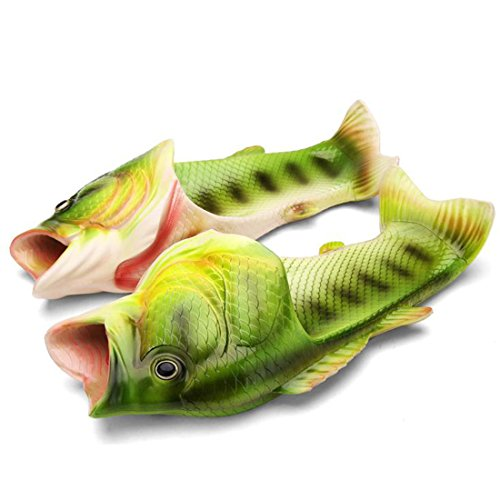 kelee Fisch Tier Hausschuhe Sommer Strand Sandalen Dusche Hausschuhe Rutschfeste Strand Schuhe Tragen für Frauen Männer und Kinder Casual Schuh 44/45