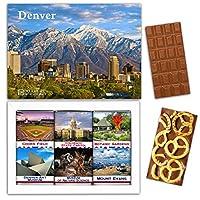 """DA CHOCOLATE キャンディ スーベニア """"DENVER"""" DENVER チョコレートセット 7,2×5,2一箱 (MILK Blueberry Coconut Pretzel)"""
