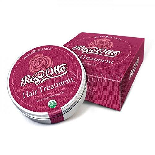 Alteya Organic Traitement capillaire rose bulgare 100ml - Certifiée organique USDA traitement et conditionnement des cheveux pur bio naturel nourrissant et stimulant à la base d'huile essentielle de rose Otto de classe thérapeutique (Rosa Damascena)