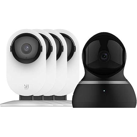 Amazon Com Yi Ai Smart Home Cámara De Seguridad 1080p 4 Piezas Y Conjunto De Cámara Domo Electronics