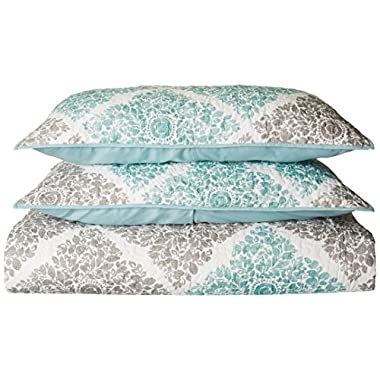 Madison Park Claire 6 Piece Quilted Coverlet Set, King/California King, Aqua