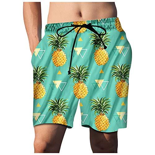 IFOUNDYOU 2021 Badeshorts Herren Männer Kurze Hose mit Verstellbarem Tunnelzug 3D Druck Schnell Badehose Sommer Jungen Surf Größen Beach Shorts in vielen Farben