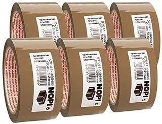 NOPI® verpakkingstape universeel, PP, zelfklevend, 50 mm x 66 m, bruin (6 stuks), U ontvangt 1 verpakking à 6 stuks