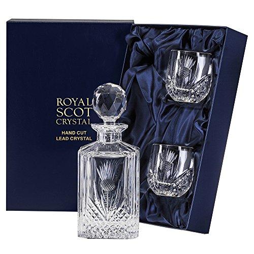 Royal Scot Crystal Schotse distel Whisky Set (vat Tumblers) (Presentatie Boxed)