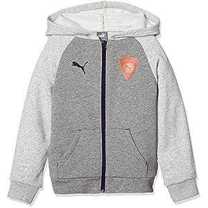 [プーマ] サッカーウェア フーデッドスウェットジャケット 754292 [ジュニア] キッズ ミディアムグレーヘザー (03) 日本 130 (日本サイズ130 相当)