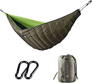 AYAMAYA Hammock Underquilt 4 Season, 20 Degree Winter Warm Sleeping Bag Under Quilt Blanket Ultralight Ripstop Easy Setup Bottom Insulation Hammock Camping Essential Gear for Single Person