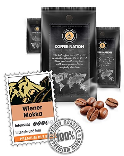 Coffee-Nation Wiener Mokka 1000g Bohnen| Spitzenqualität | Kaffeeliebhaber