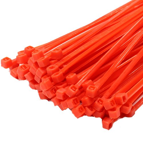 100 X 200 mm x 4.8 mm Rouge en plastique de haute qualité Attaches de câble en nylon Zip Tie Wraps