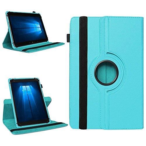 NAmobile Tablet 360° Drehbar Hülle für Odys Wintab Ares 9 Tasche Schutzhülle Hülle Cover, Farben:Türkis