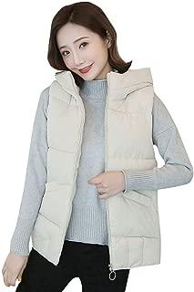 iHHAPY Ladies Vest Outdoor Vest Quilted Vest Hooded Vest Winter Sleeveless Jacket with Hood Padded Tank Tops Sport Vest