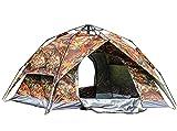 Beneyond Doppeltür-Zelt für 3–4 Personen, Doppeltür, automatisches Zelt für 4 Personen, Pop-Up-Zelt, abnehmbar, Strandzelt für 4 Personen, Markise, wasserdicht, Winddicht, schneefest, Ahorntarnmuster