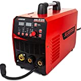 SUSEMSE MIG MAG MMA Lift TIG 3 in 1 Welder Gas and Gasless Flux Cored Wire Solid Core Wire Welding Equipment IGBT Inverter Welder Dual Voltage 110/220V 200A DC - 2T / 4T - MIG235 (RED)