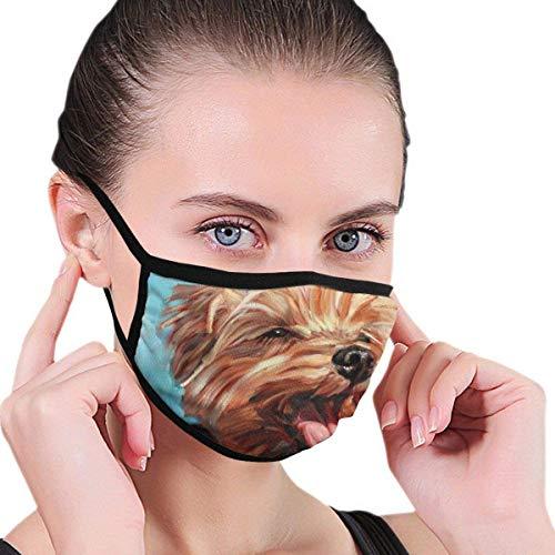 152 Mundschutz mit Unisex-Aufdruck, windabweisende Gesichtsabdeckungen für Hund Yorkshire Terrier Anti-Staubwaschbar Wiederverwendbar Atmungsaktiv Warm für den Außenbereich