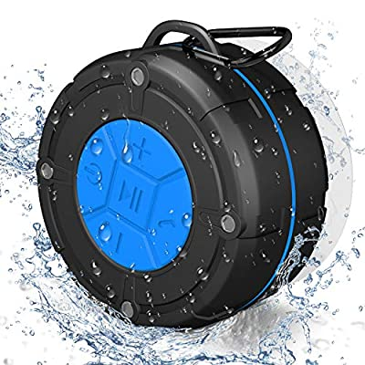 PEYOU Bluetooth Speaker with Strong Suction Cup.Shower Speaker Waterproof/Waterproof Speaker For Phone Music Hands-free Calling Compatible for 100% Devices IOS/Android,Shower Radios from PEYOU