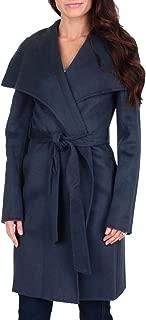 Ellie Women's Double Face Shawl Collar Wool Wrap Coat
