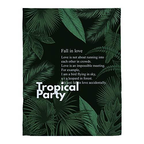 cortinas cortas habitacion verde tropical