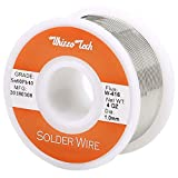 Whizzotech Solder Wire 60/40 Tin/Lead Sn60Pb40 with Flux Rosin Core for Electrical Soldering 4oz/100g/0.22lb Diameter 0.039 Inch/1mm