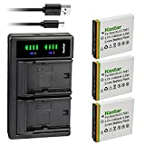Kastar 3-Pack KLIC-7001 Battery and LTD2 USB Charger Replacement for Kodak EasyShare M320, EasyShare M340, EasyShare M341, EasyShare M753 Zoom, EasyShare M763, EasyShare M853 Zoom, EasyShare M863