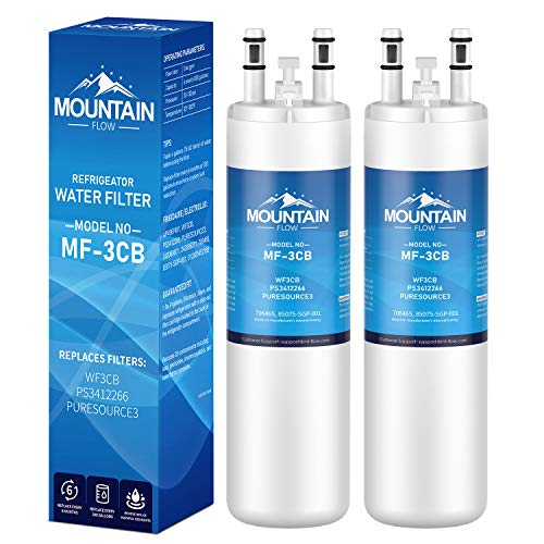 WF3CB Compatible Refrigerator Water Filter Replacement Pure Source 3, white - 2packs