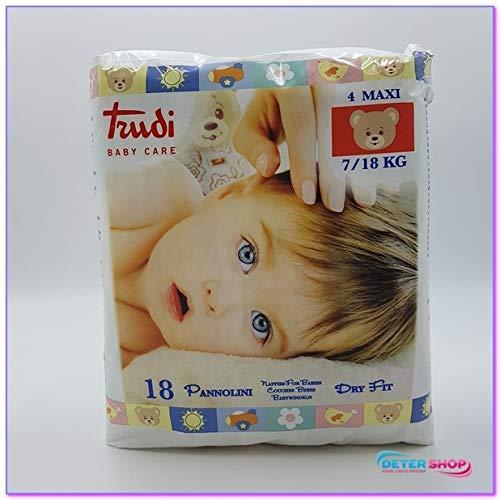 Trudi Baby Care Dry Fit Size 4 Maxi (7-18Kg) 18 pcs.