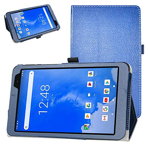 Bige for Winnovo T8 Tablet Case,PU Leather Folio 2-Folding Stand Cover for Winnovo T8 8 Inch Android 9.0 Tablet,Dark Blue