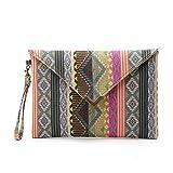 Goosun Damen Envelope Clutch Ladies Kleine Elegante Boho Tasche Brieftasche Abendtasche Mit...