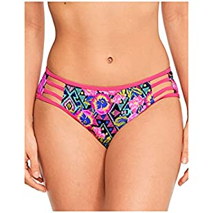 Figleaves Womens Santa Rosa Straping Brief Size 16 in Pink Multi