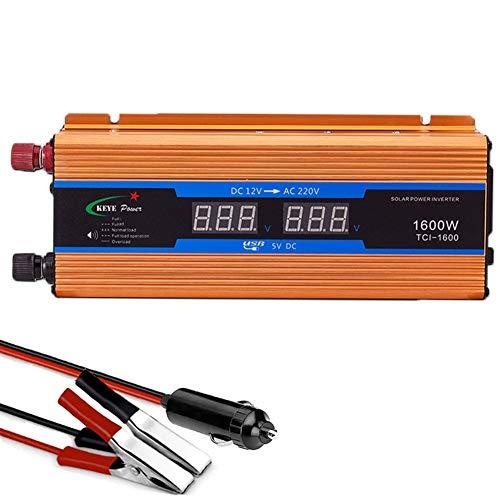 XBNBQ Wechselrichter Steckdosen 600W - 2600W 12/24/48/60/72 V DC bis 220V Sinus Wechselrichter Welle Spannungswandler Inverter Spannungswandler für Auto Ladegerät Adapter,USB Konverter1600W-60V