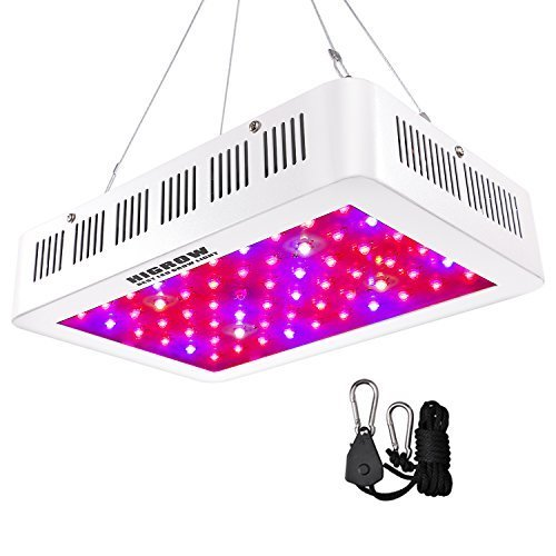 HIGROW 600W LED Grow Light, Full Spectrum Plant Light with Daisy Chain and Rope Hanger for Indoor Plants Veg and Flower