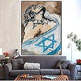 N / A Pintura sin Marco Surrealista Apasionado español Pintura al óleo sobre Lienzo póster decoración de la Sala de estarZGQ5122 30X45cm