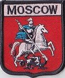 Moskau Russland Flagge Aufgestickt Patch Abzeichen