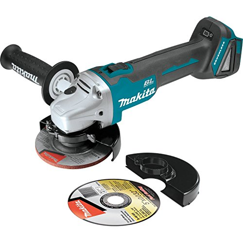 "Makita XAG04Z 18V LXT Lithium-Ion Brushless Cordless 4-1/2"" / 5' Cut-Off/Angle Grinder, Tool Only"