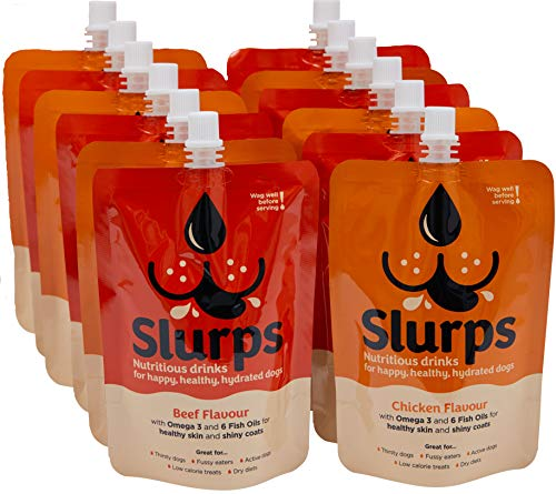 Slurps Nutritious Drinks for Dogs (Mixed, 12)