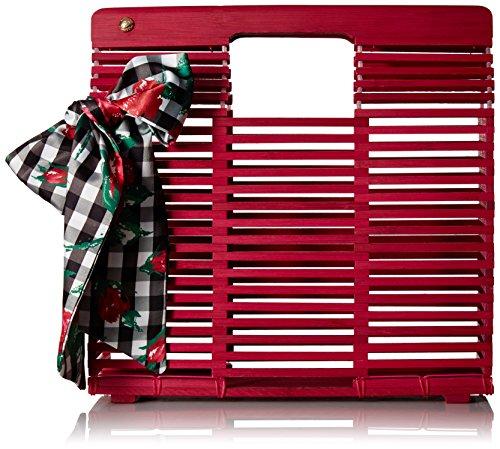 Betsey Johnson Damen Wood Frame Hand HELD Clutch Woody 2 Shoes-Unterarmtasche, Crossbody-Tasche, Holzrahmen, Rose, Einheitsgröße