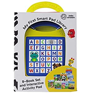 Baby Einstein – My First Smart Pad Library Electronic Activity Pad and 8-Book Library – PI Kids