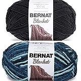 BERNAT Blanket Big Ball - 2 Balls - 300G Each - Coal and Teal Dreams