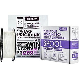 rigid.ink The Most Reliable, White PLA Filament 1.75mm for 3D Printing and Pens *0.03mm+/- Tolerance* 3D Printer Filament 1KG:Videomesum