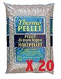 VIALCA 20 Sacchi Pellet FAGGIO 100% (N.20X15KG Totale 300KG) Ideale per STUFE E CALDAIE Certificato A2
