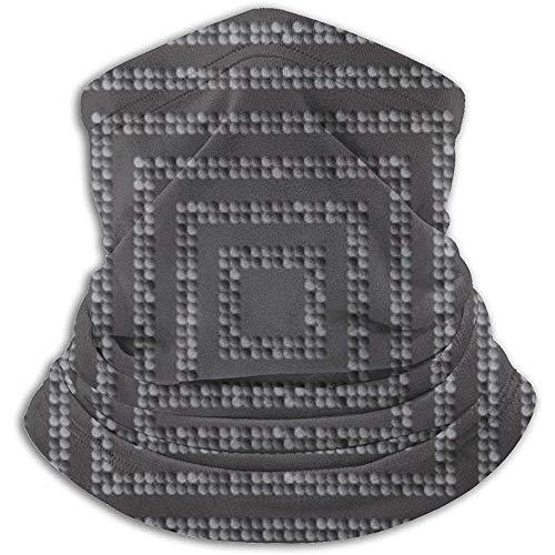 Cuello Bufanda Concéntrico Cuadrado Mosaico de Plata Lentejuelas Brillo Pasamontañas Máscara de esquí Más cálido Invierno Abrigo para la Cabeza