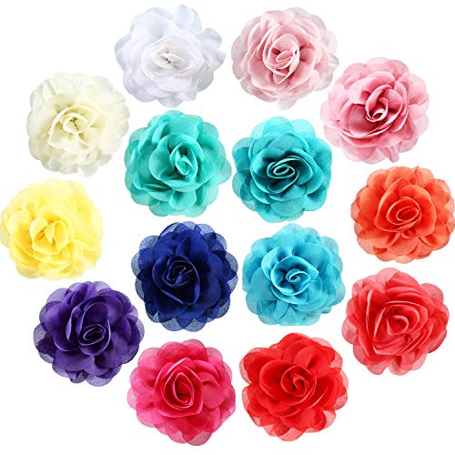 Leinuosen 14 Pieces Dog Collar Flowers Pet Bow Tie Flower Collars for Puppy Collar Grooming Accessories (8 cm, 14 Pieces)