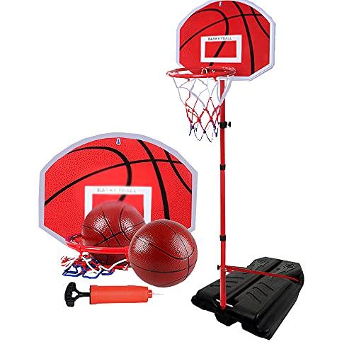 SZWQ Aro de Baloncesto aro de Baloncesto para niños Interior elevable hogar Juguete de Tiro al Aire Libre niño Azul 2-10 años