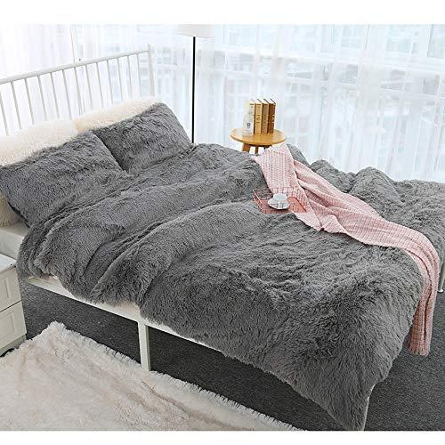 LZGBH Decke Kuscheldecke Wohndecke, Weicheund Warme Sofadecke Fleecedecke, als Bettdecke Couchdecke & Tagesdecke -Rauchgrau_130 * 160 cm